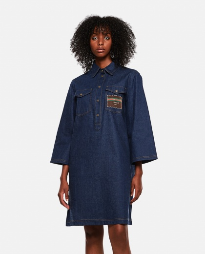 Short denim dress with Gucci Boutique
