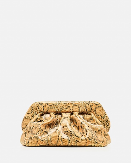 Python print faux leather clutch