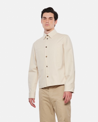 Cotton twill shirt Men Bottega Veneta 000310020045465 1