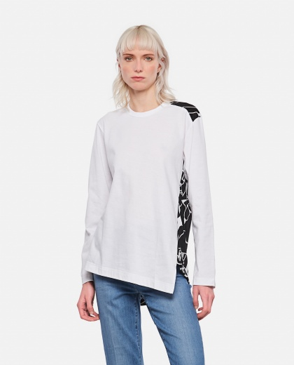 T-shirt con stampa astratta Donna Comme des Garcons 000316360046348 1
