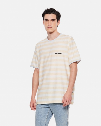 SUNNEI X BIFFI striped cotton t-shirt Men Sunnei x Biffi 000300290044143 1