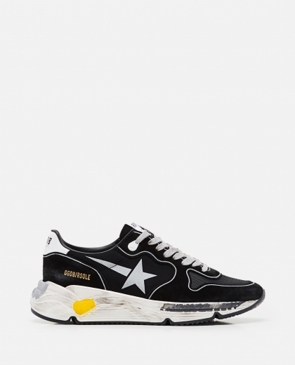 Sneakers Running sole in camoscio rete e pelle Uomo Golden Goose 000292250043031 1
