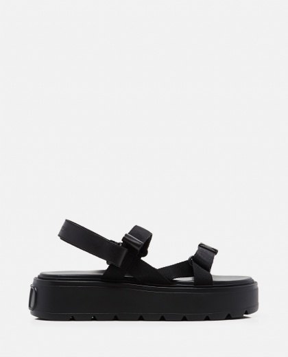Ribbon and leather Uniqueform Valentino Garavani sandal  Men Valentino 000294940043385 1
