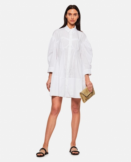 Cotton poplin shirt dress Women Simone Rocha 000303180044512 2