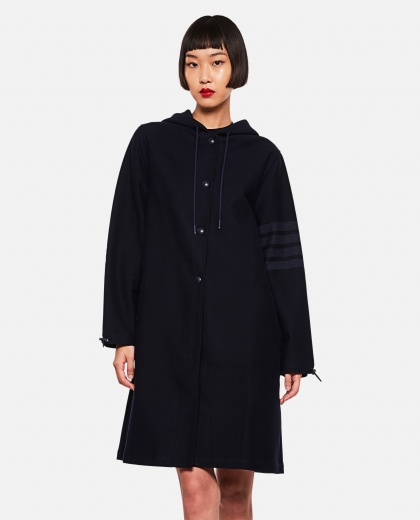 Double-face cotton twill parka Women Thom Browne 000255240037697 1
