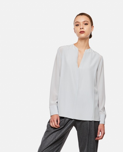 Blouse in silk crepe