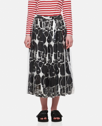 Midi skirt with print Donna Comme des Garcons 000316330046345 1