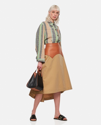 Long obi skirt in calfskin and fabric Women Loewe 000307080045006 2