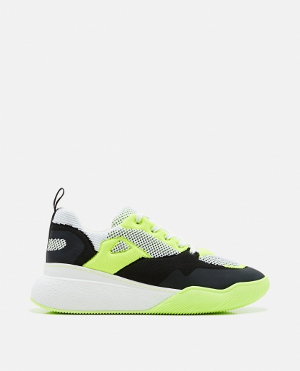 Sneakers with fluo details