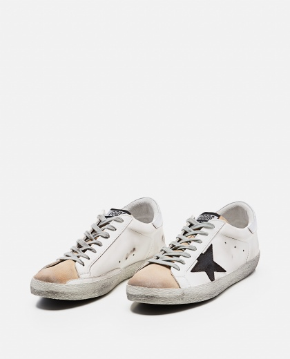 'Superstar' sneakers in leather and suede Men Golden Goose 000269220039688 2