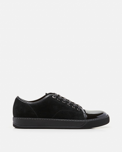 Suede calf leather sneakers