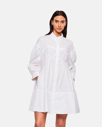 Cotton poplin shirt dress Women Simone Rocha 000303180044512 1