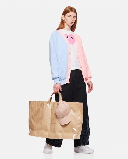 Two-tone knitted cardigan Women Comme des Garcons 000316710046387 2