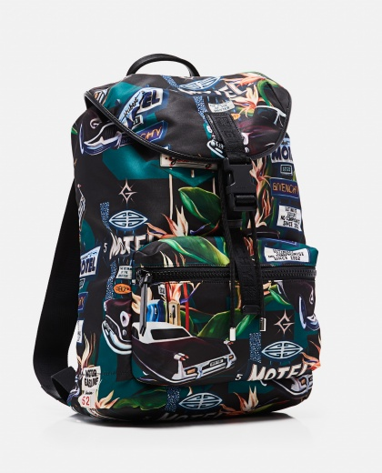 Light 3 nylon backpack with Motel print Men Givenchy 000301540044291 2