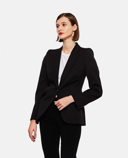Single-breasted virgin wool blazer  Women Alexander McQueen 000226840033527 1