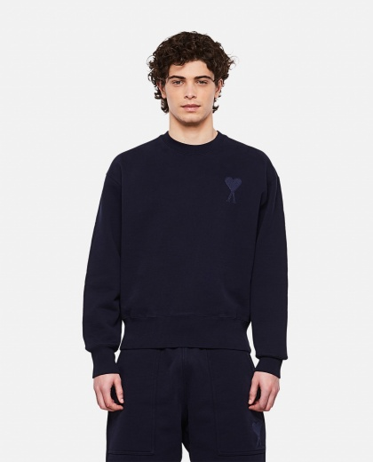 Crewneck cotton sweatshirt Uomo AMI Paris 000291240042876 1