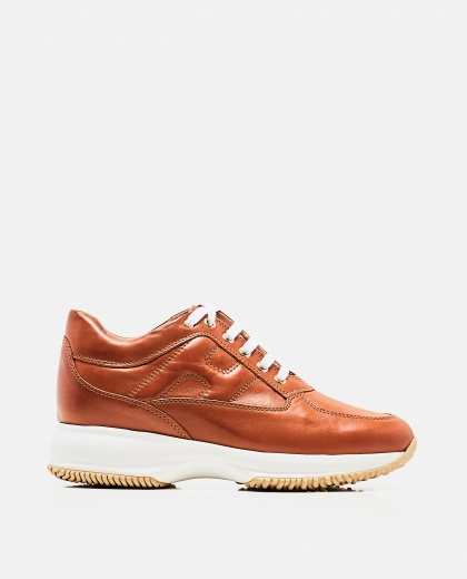 Interactive Brown Sneaker Women Hogan 000261710038725 1