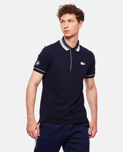 Lacoste X Roland Garros Open Cotton Polo Shirt In Petit Piqué