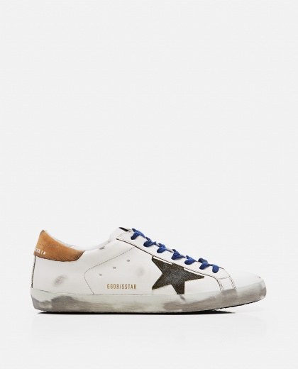 'Superstar' sneakers in leather and suede Men Golden Goose 000269250039691 1