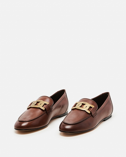 KATE MOCCASIN IN LEATHER Women Tod's 000255560037765 2