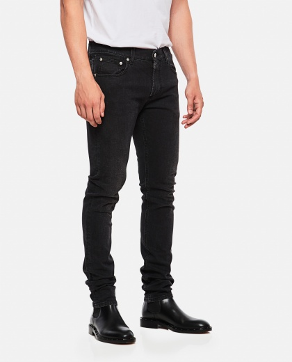 Slim fit jeans with embroidery Men Alexander McQueen 000179840026772 1