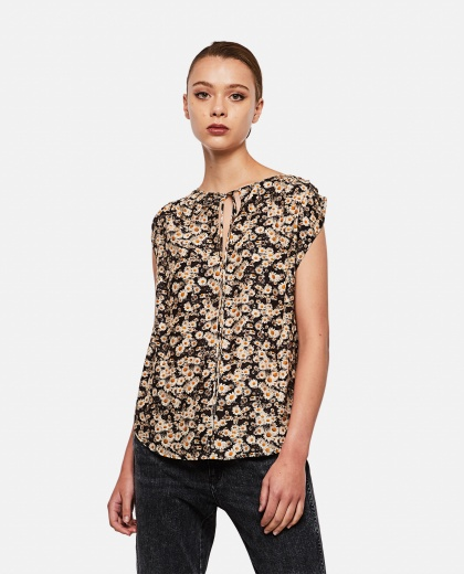 Printed silk top Women Stella McCartney 000280390041308 1