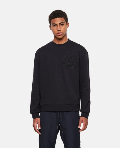 Cotton sweatshirt with logo embroidery Men Moncler 000308690045270 1