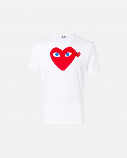 T-shirt with print Men Comme des Garcons Play 000107010016297 1