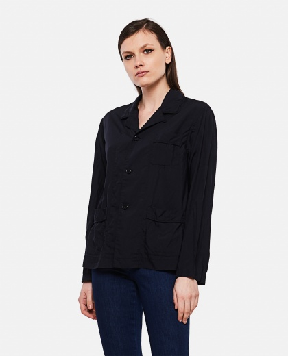 Shirt-jacket with patch pockets
