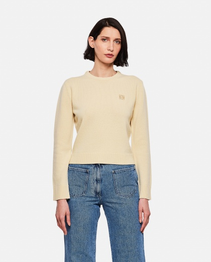 Cropped wool sweater with Anagram embroidery Women Loewe 000289250042584 1