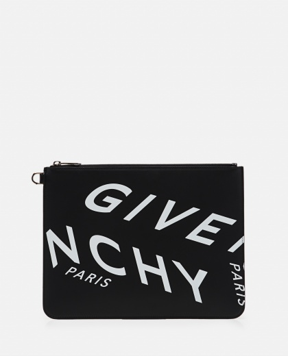 Clutch bag with GIVENCHY print Men Givenchy 000301640044301 1