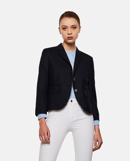 Wool blazer with buttons