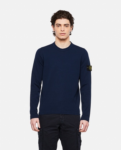 Sweater with logo patch Men Stone Island 000292730043109 1