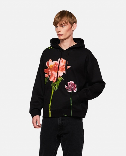 Cotton hoodie with Flowersity print Men Valentino 000264190039033 1