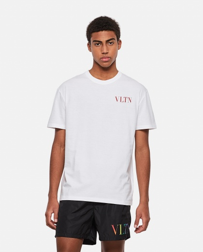 Valentino cotton T-shirt with VLTN logo Men Valentino 000295150043416 1