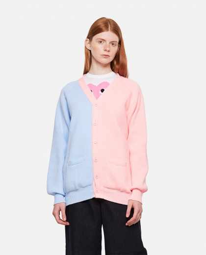 Two-tone knitted cardigan Women Comme des Garcons 000316710046387 1