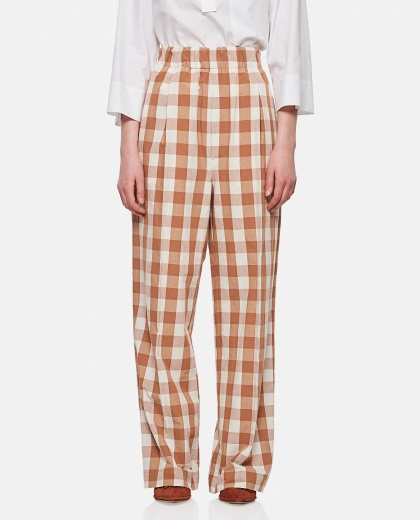 Trousers with check print Women Jejia 000306380044915 1