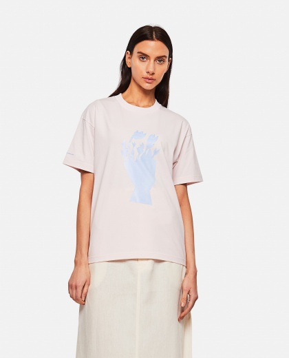 Cotton T-shirt with print Women Jacquemus 000302340044402 1