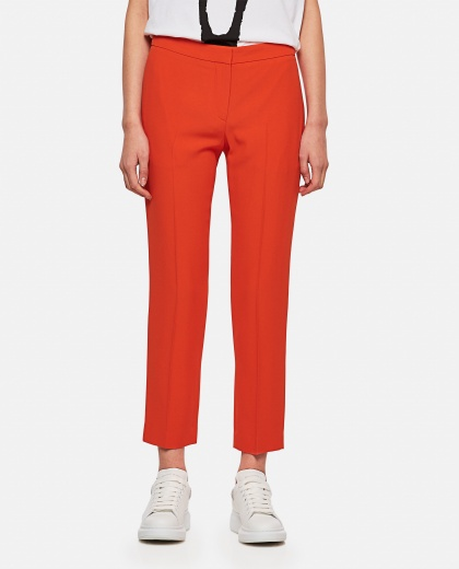 Tailored cropped trousers Women Alexander McQueen 000227050033549 1