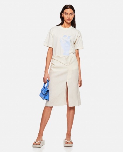 Cotton T-shirt with print Women Jacquemus 000302330044401 2
