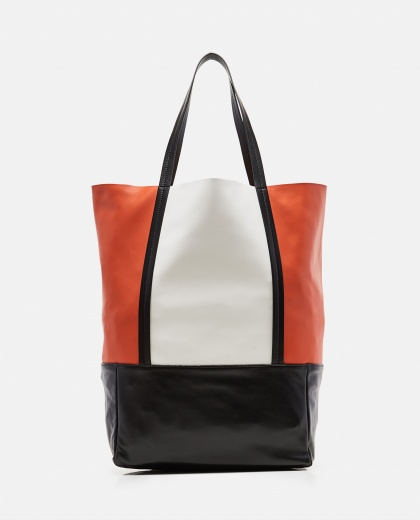 Color-Blocked Lambskin Tote Bag Women Plan C 000263440038948 1