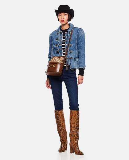 Fitted denim jacket Women Marc Jacobs 000261090038638 2
