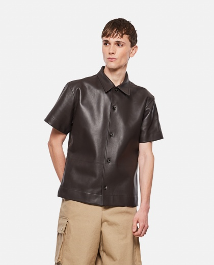 Lambskin short-sleeved shirt Men Bottega Veneta 000291710042962 1
