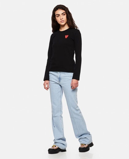 T-shirt with hearts Women Comme des Garcons Play 000267300039441 2