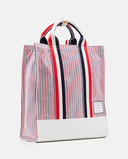 Striped tote bag Men Thom Browne 000223630033085 2