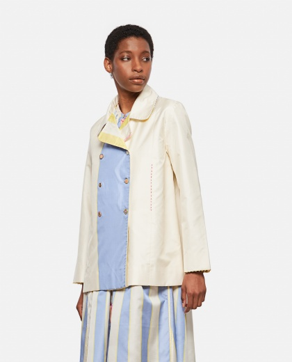 Double-breasted linen jacket Women Péro 000318290046632 1