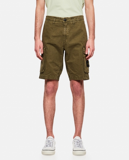 Brushed cotton canvas Cargo bermuda  Men Stone Island 000292560043074 1