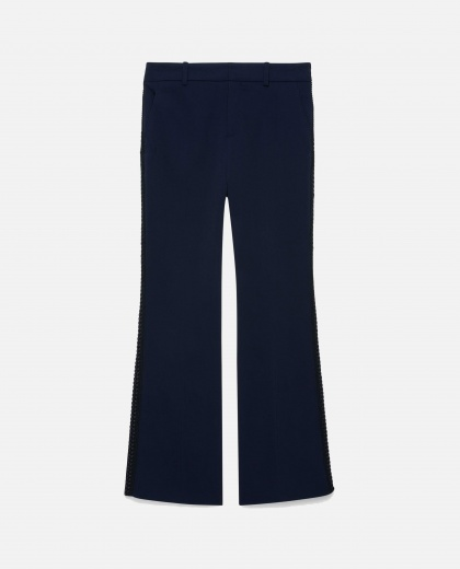 Bootcut trousers in viscose