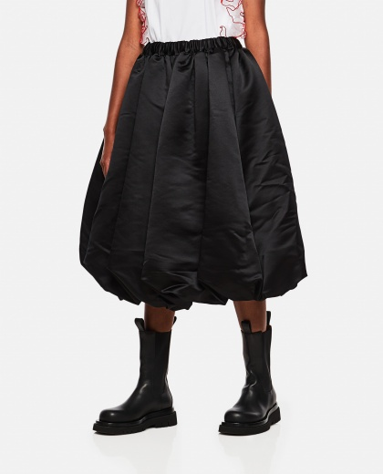 Balloon skirt in satin Women Comme des Garcons 000275630040608 1