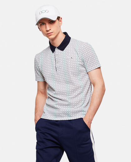Men'S Polo Shirt In Lacoste X Roland Garros Printed Mini Piqué